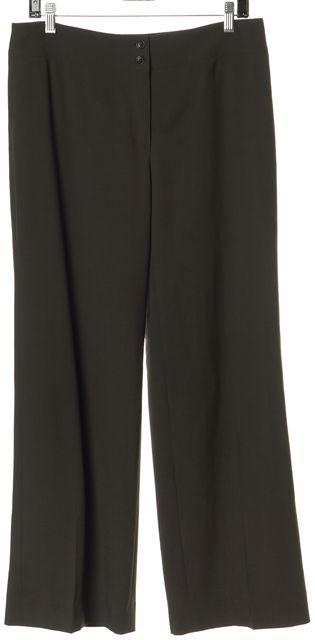 ARMANI COLLEZIONI Brown High Rise Wide Leg Trousers Dress Pants