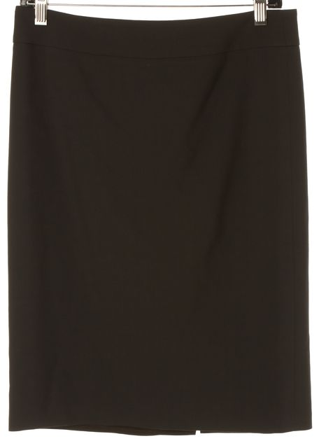 ARMANI COLLEZIONI Brown Wool Knee-Length Straight Skirt