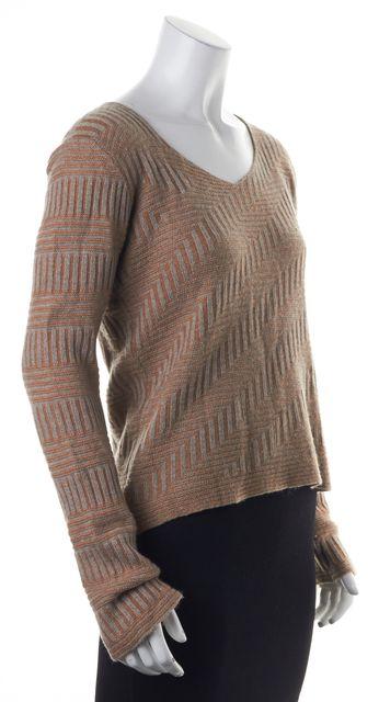 ARMANI COLLEZIONI Brown Grey Knit Top