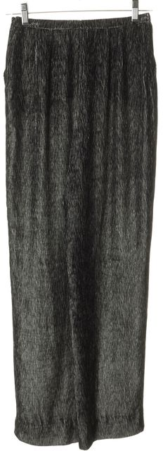 ARMANI COLLEZIONI Black White Striped Velvet Dress Pants