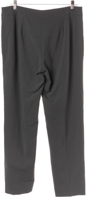 ARMANI COLLEZIONI Gray Straight Leg Casual Pants