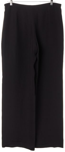 ARMANI COLLEZIONI Black High Rise Wide Leg Dress Pants