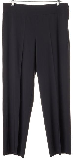 ARMANI COLLEZIONI Gray 100% Wool Side Zipped No Pocket Dress Pants
