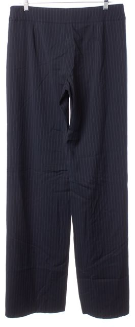 ARMANI COLLEZIONI Blue Pinstriped Pleated Trouser Dress Pants