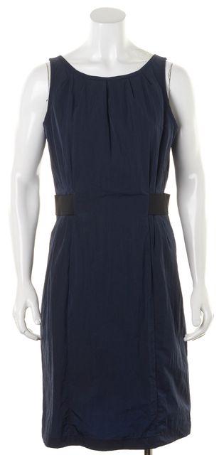 ARMANI COLLEZIONI Navy Blue Black Sleeveless Sheath Dress