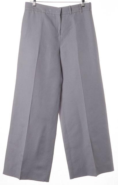 ARMANI COLLEZIONI Gray Wide Leg Trouser Dress Pants