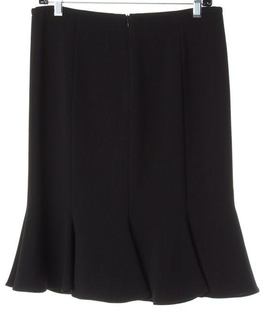 ARMANI COLLEZIONI Black Below Knee Straight Trumpet Skirt