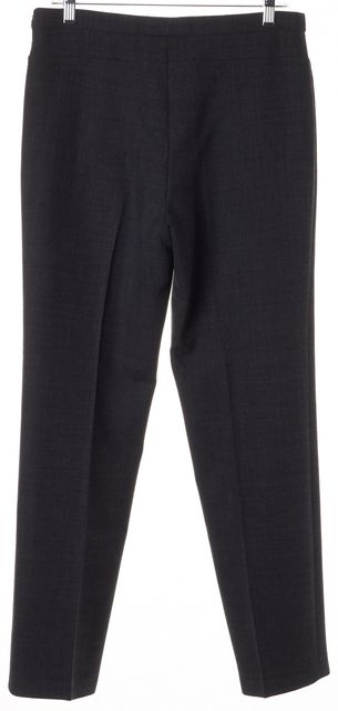 ARMANI COLLEZIONI Charcoal Gray Slim Straight Leg Trousers Pants