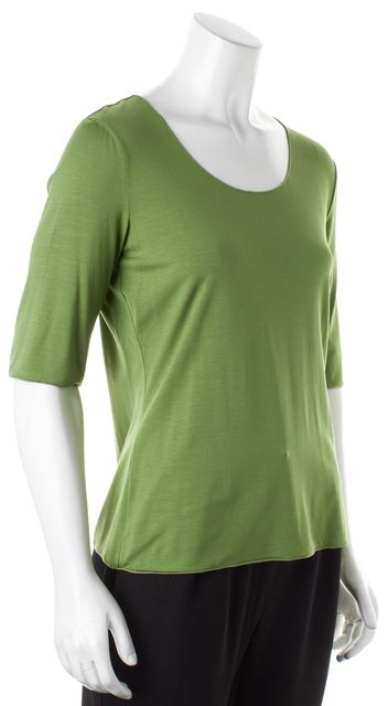 ARMANI COLLEZIONI Green Jersey Short Sleeve Basic T-Shirt