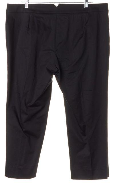 ARMANI COLLEZIONI Black Cropped Trouser Pants