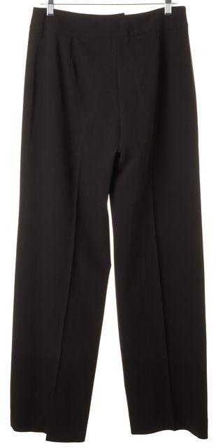 ARMANI COLLEZIONI Dark Brown Wide Leg Trouser Dress Pants