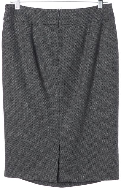 ARMANI COLLEZIONI Gray Wool Knee-Length Straight Skirt