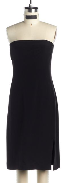 ARMANI COLLEZIONI Black Strapless Sheath Dress Shawl