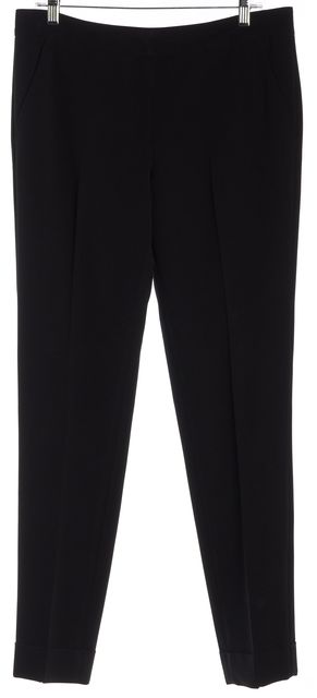 ARMANI COLLEZIONI Black Cuffed Hem Dress Pants