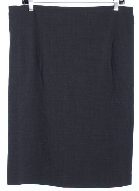 ARMANI COLLEZIONI Charcoal Gray Pencil Skirt