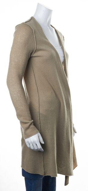 AUTUMN CASHMERE Beige Cardigan Open Front Cardigan