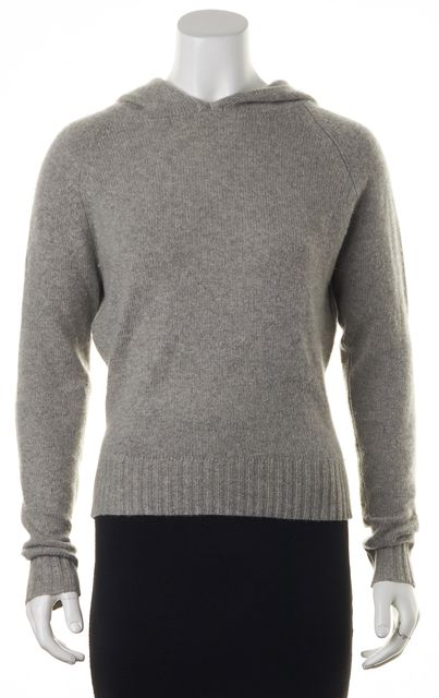 AUTUMN CASHMERE Gray Cashmere Hoodie Sweater