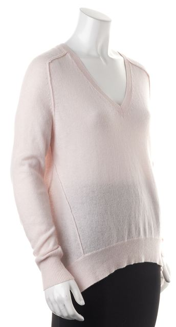 AUTUMN CASHMERE Pink 100% Cashmere V-Neck Long Sleeve Sweater