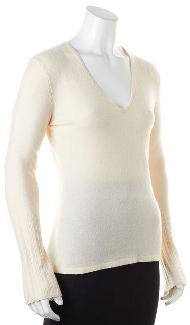 AUTUMN CASHMERE Ivory Cashmere Light V-Neck Sweater