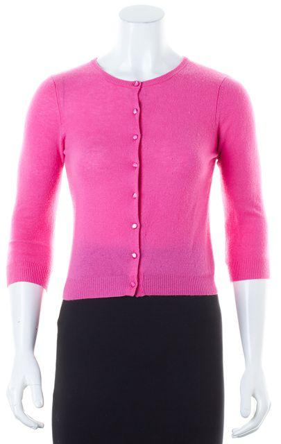 AUTUMN CASHMERE Pink Cashmere Button Front Cardigan