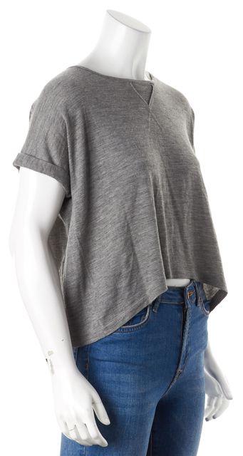 AUTUMN CASHMERE Gray Cashmere Knit Top