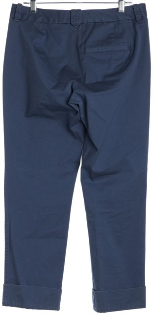 AYR Blue Cuffed Ankle Trousers Pants