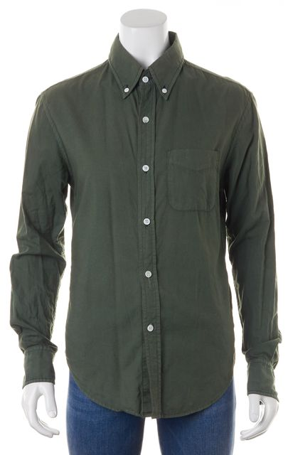 BAND OF OUTSIDERS Medium Green Long Sleeve Button Down Shirt
