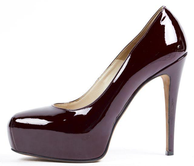 BRIAN ATWOOD Burgundy Patent Leather Maniac Platform Heels