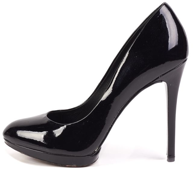 BRIAN ATWOOD Black Patent Leather Platform Pump Heels