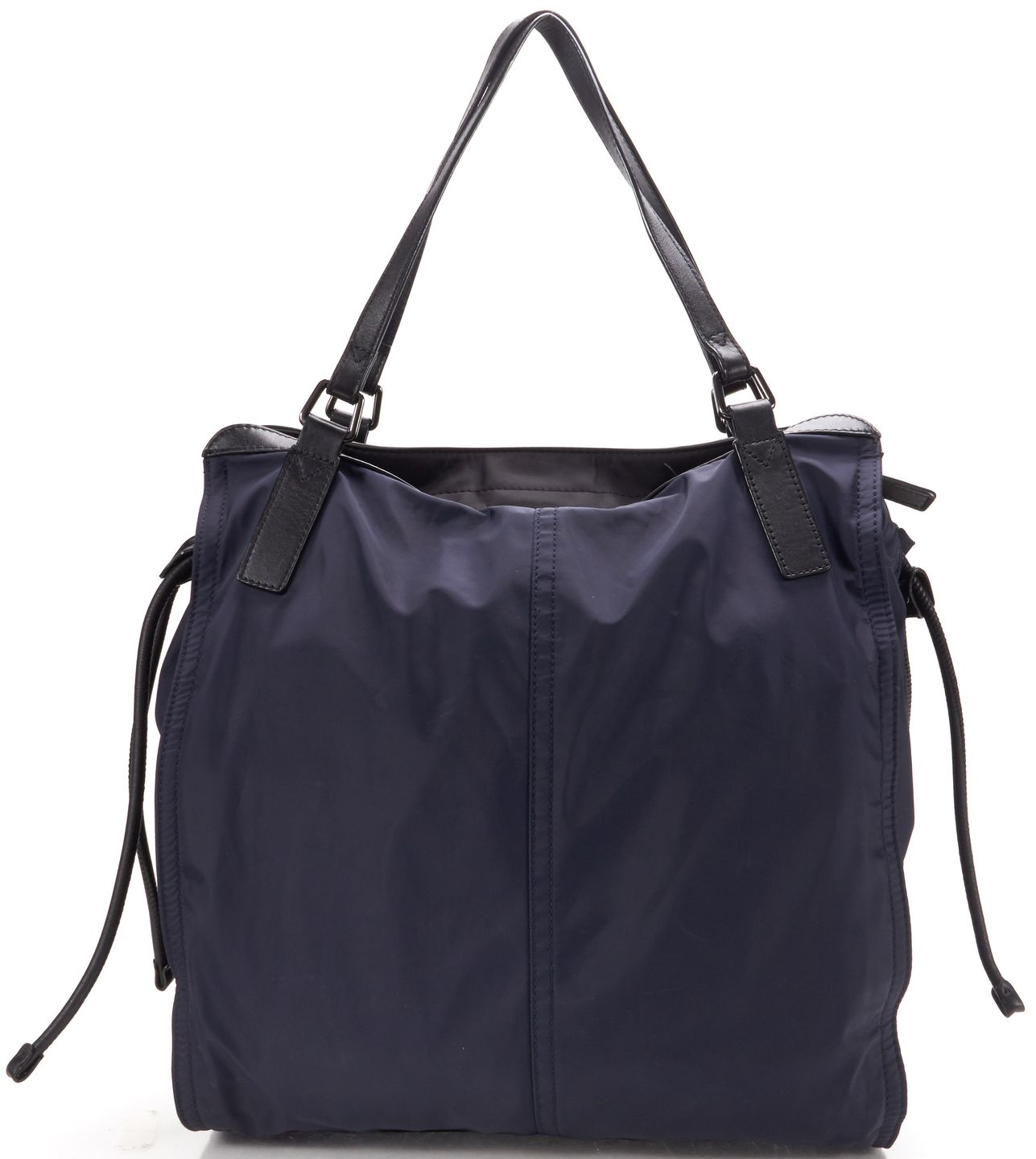 Burberry Navy Nylon Zip Top Buckleigh Packable Tote Bag | Material ...