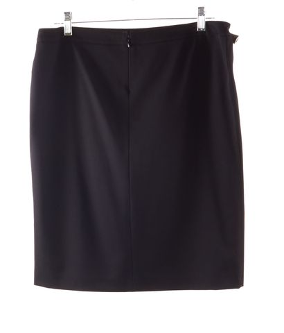 BURBERRY Black Wool Straight, Pencil Skirt