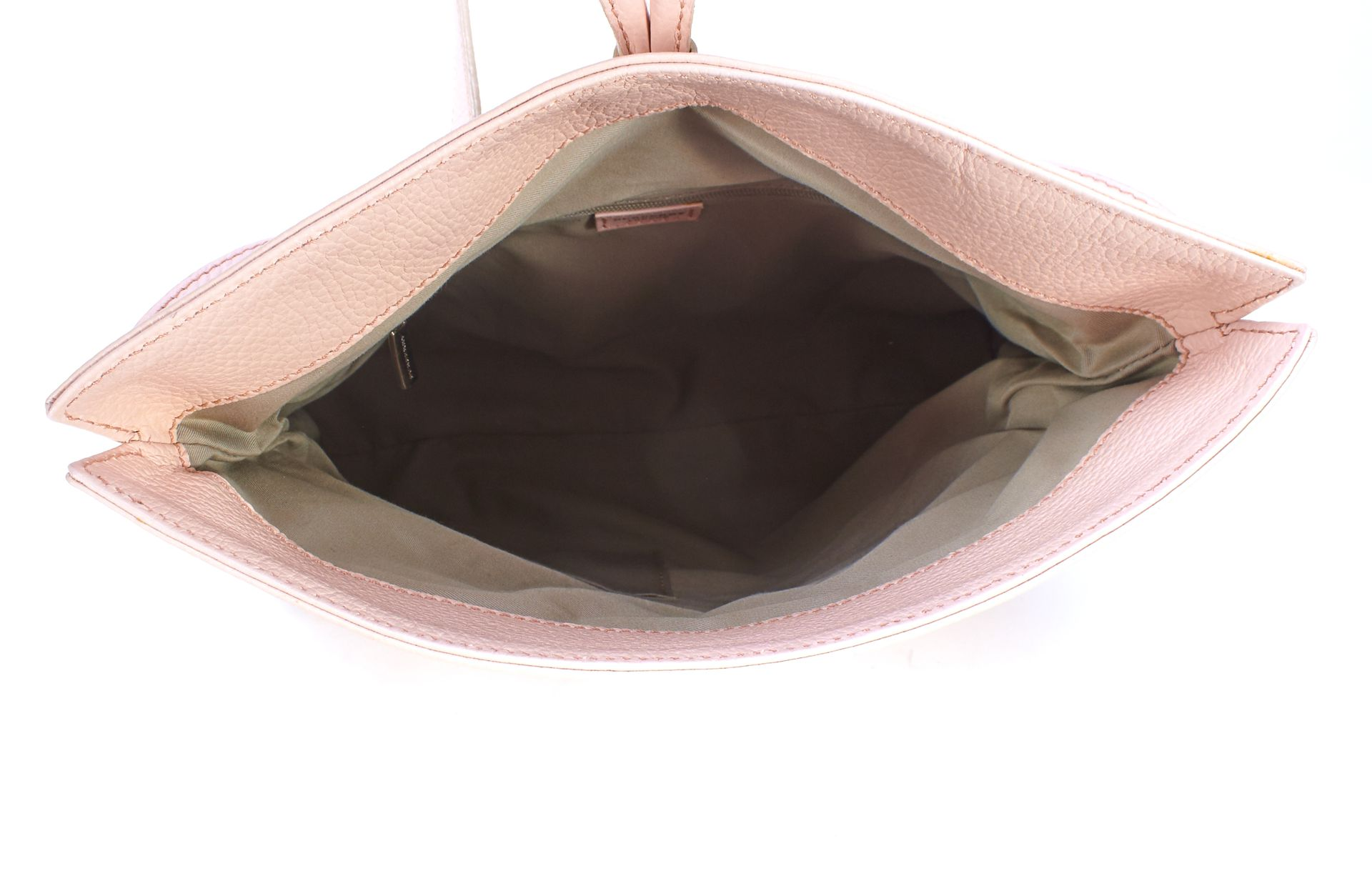 BURBERRY Pink Pebble Leather House Check Shark Tooth Shoulder Bag