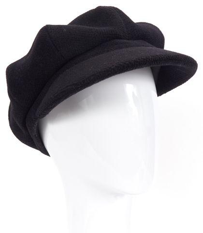 BURBERRY Black Wool sboy Cabbie Hat