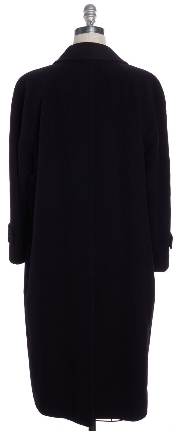 BURBERRY Vintage Navy Blue Wool Basic Coat