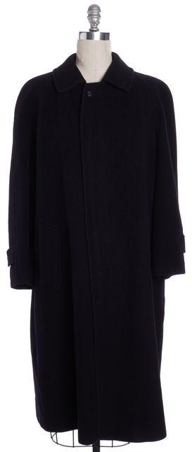 BURBERRY Vintage Navy Blue Wool Basic Coat