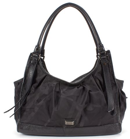 BURBERRY Black Nylon Leather Shoulder Bag