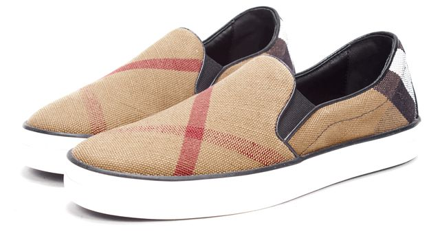 BURBERRY Brown Check Slip On