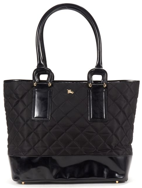 BURBERRY Black Quilted Nylon Tote