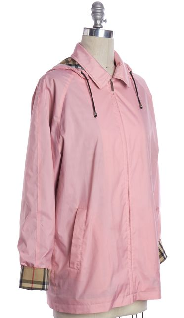 BURBERRY Pink Raincoat Jacket