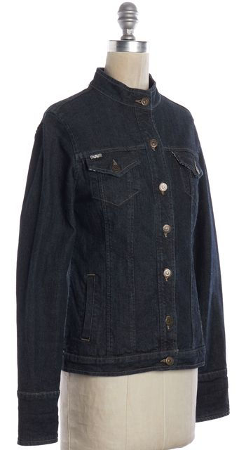 BURBERRY Blue Denim Button Down Jacket