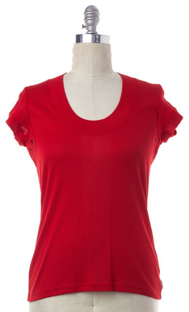 BURBERRY Red Knit Top