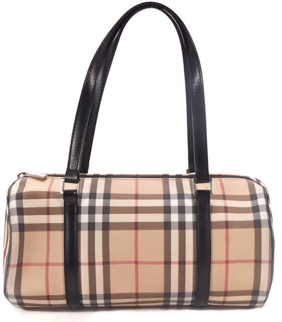 BURBERRY Beige House Check Top Handle Bags