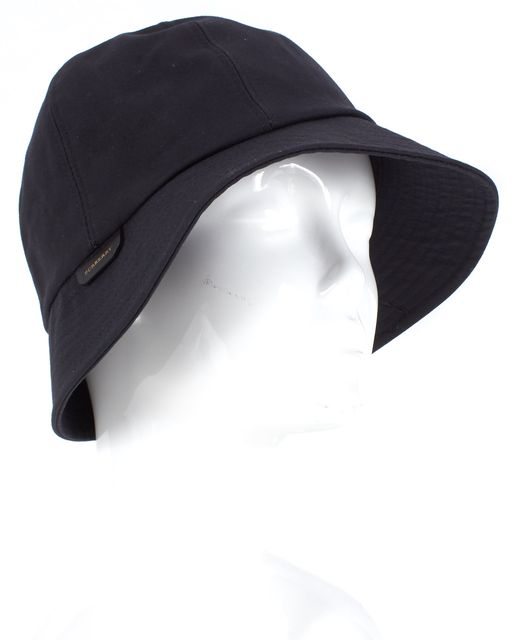 BURBERRY Black Cotton Bucket Hat
