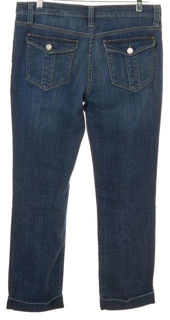 BURBERRY Blue Medium Wash Knight's Bridge Cropped Skinny Jeans