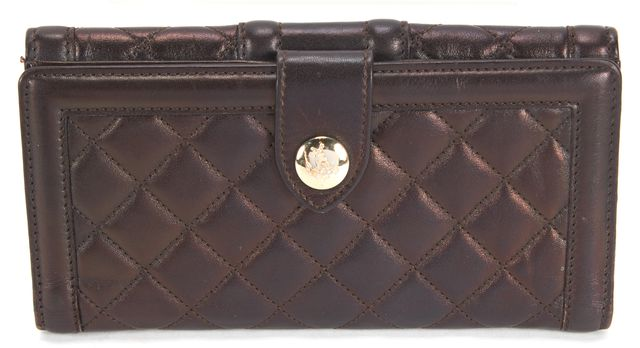 BURBERRY Brown Quilted Leather Wallet