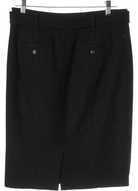 BURBERRY Black Wool Pencil Skirt