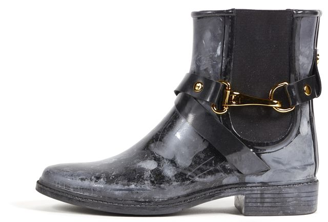 BURBERRY Black Rubber Ackmar Ankle Chelsea Boots