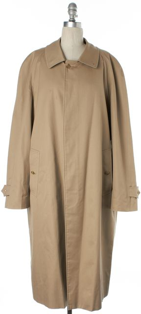 BURBERRY Beige Wool Lined Basic Button Up Coat