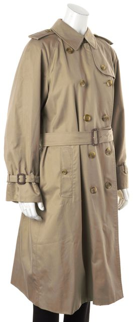 BURBERRY Beige Double Breasted Belted Trench Coat