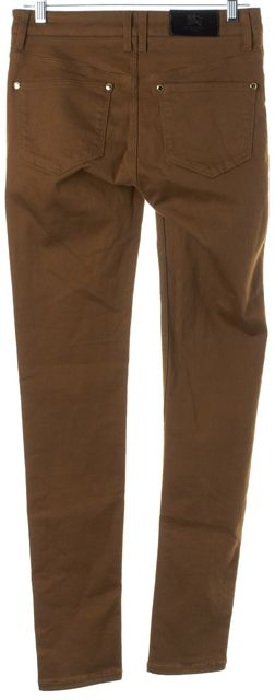 BURBERRY Dark Camel Stretch Cotton Oakland Skinny Jeans